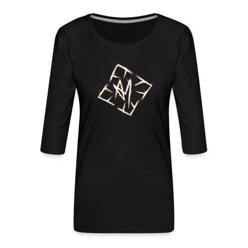 Across Yourself - Logo white transparent - Women's Premium 3/4-Sleeve T-Shirt