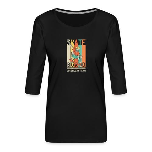 Skateboard 10 - Maglietta da donna premium con manica a 3/4