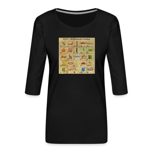 The Hieroglyphic Alphabet - Frauen Premium 3/4-Arm Shirt