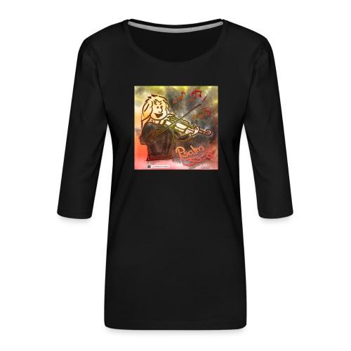 Design Geige Psalm 33 Vers 3 - auf Kleidung - Frauen Premium 3/4-Arm Shirt