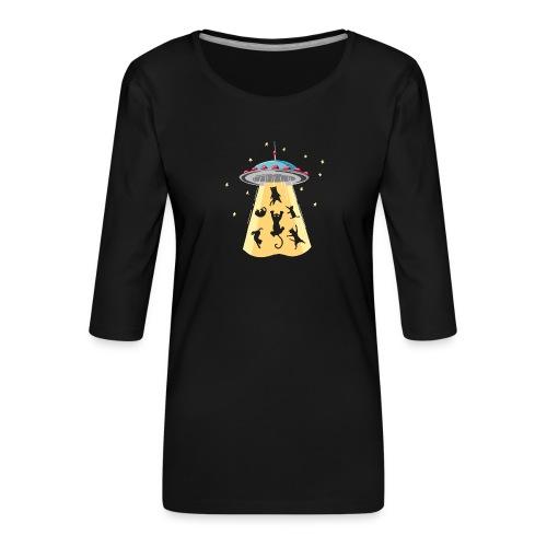 EXTRA CAT - T-shirt Premium manches 3/4 Femme