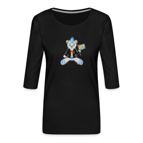 LGBT Bear Love - Dame Premium shirt med 3/4-ærmer