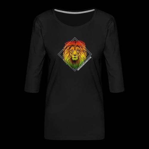 LION HEAD - UNDERGROUNDSOUNDSYSTEM - Frauen Premium 3/4-Arm Shirt