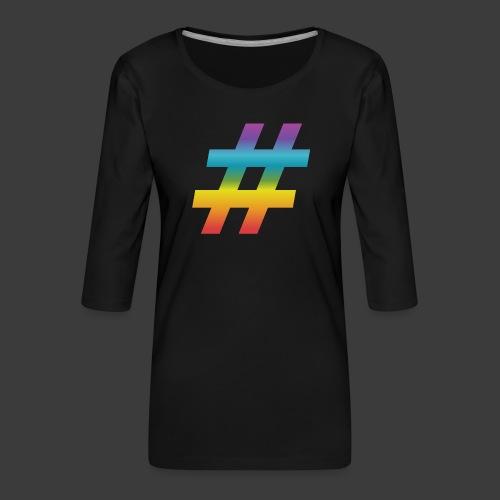 rainbow hash include - Women's Premium 3/4-Sleeve T-Shirt