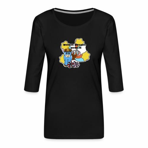 Une merveilleuse licorne est née (pour garcon) - T-shirt Premium manches 3/4 Femme