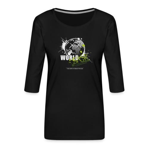 world sick - Frauen Premium 3/4-Arm Shirt