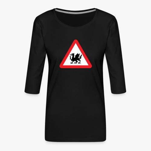Welsh Dragon - Women's Premium 3/4-Sleeve T-Shirt