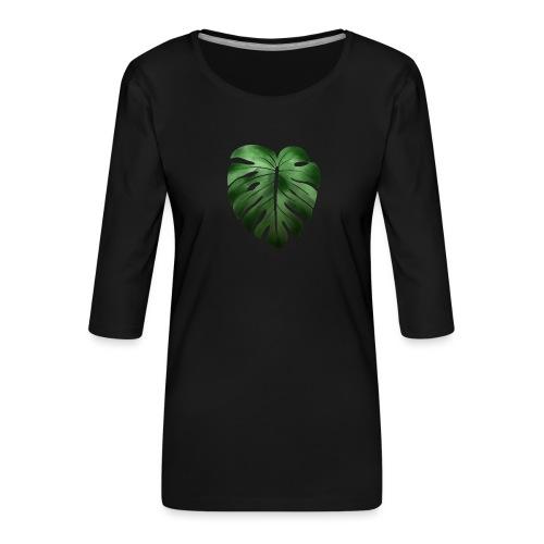Foglia dalla Natura - Maglietta da donna premium con manica a 3/4