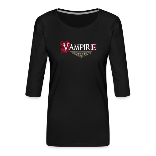 Vampire - Maglietta da donna premium con manica a 3/4