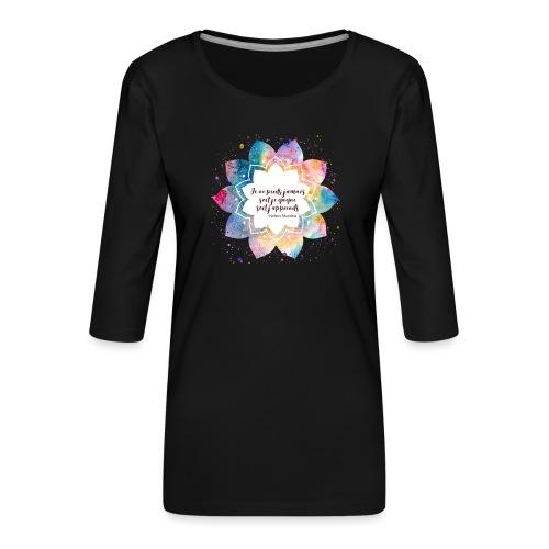 Citation de Nelson Mandela - T-shirt Premium manches 3/4 Femme