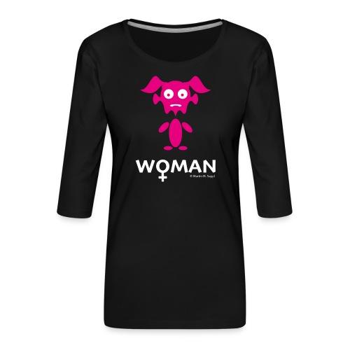 Woman - Frauen Premium 3/4-Arm Shirt