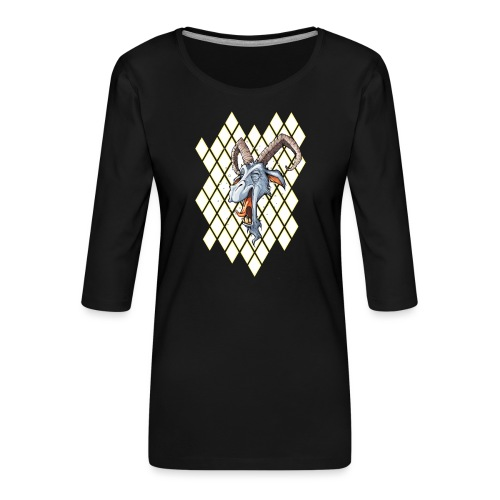 blauer bock - Frauen Premium 3/4-Arm Shirt