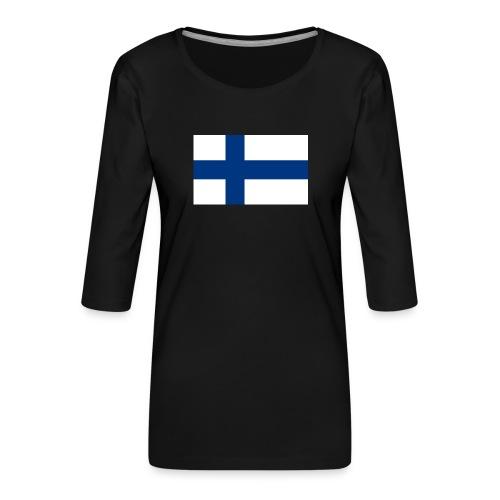 800pxflag of finlandsvg - Naisten premium 3/4-hihainen paita