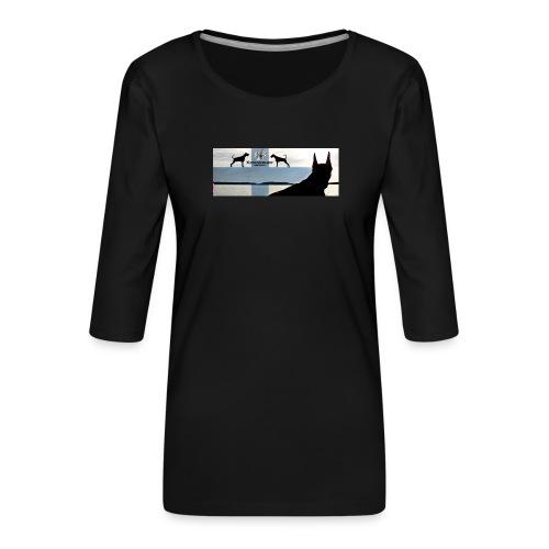 FBtausta - Naisten premium 3/4-hihainen paita