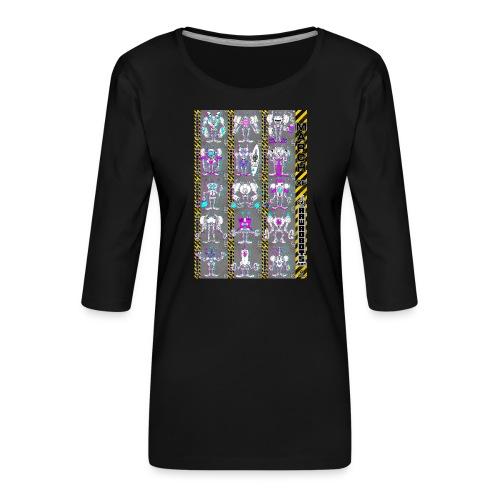 #MarchOfRobots ! NR 16-30 - Dame Premium shirt med 3/4-ærmer