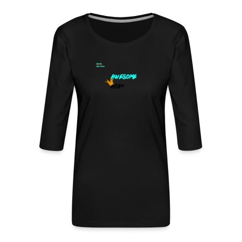 king awesome - Women's Premium 3/4-Sleeve T-Shirt