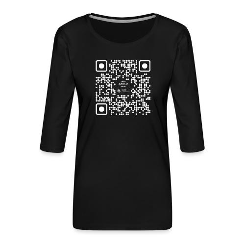 QR The New Internet Should not Be Blockchain Based W - Women's Premium 3/4-Sleeve T-Shirt