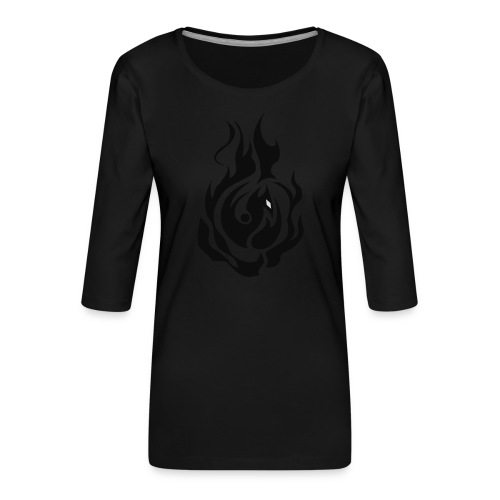feu - T-shirt Premium manches 3/4 Femme