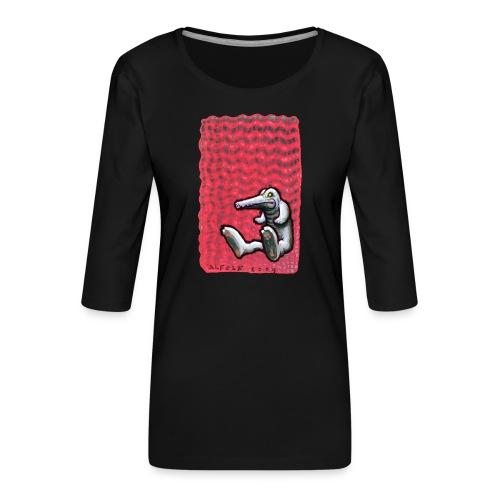 RossoGator - Maglietta da donna premium con manica a 3/4