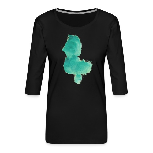 grünes Küken - Frauen Premium 3/4-Arm Shirt