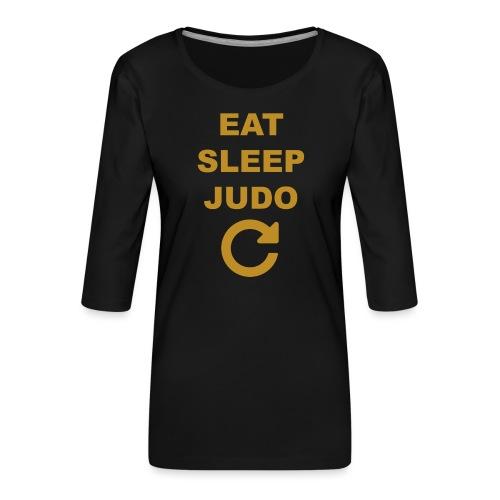 Eat sleep Judo repeat - Koszulka damska Premium z rękawem 3/4