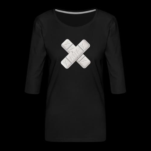 Xanax X Logo - Frauen Premium 3/4-Arm Shirt