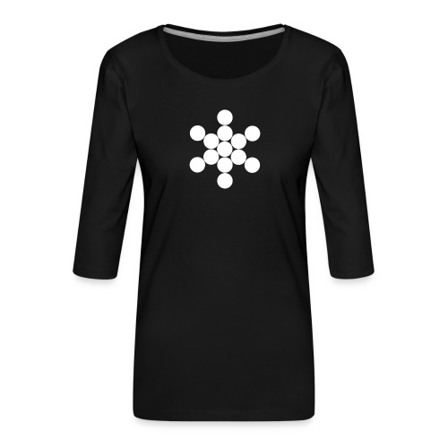 Jack Cirkels - Vrouwen premium shirt 3/4-mouw