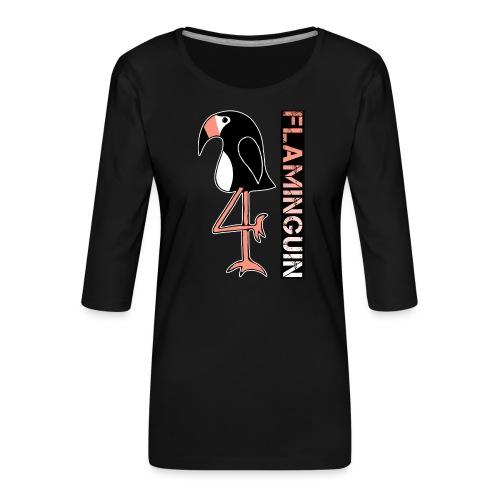 Pinguin Flamingo Flaminguin - Frauen Premium 3/4-Arm Shirt