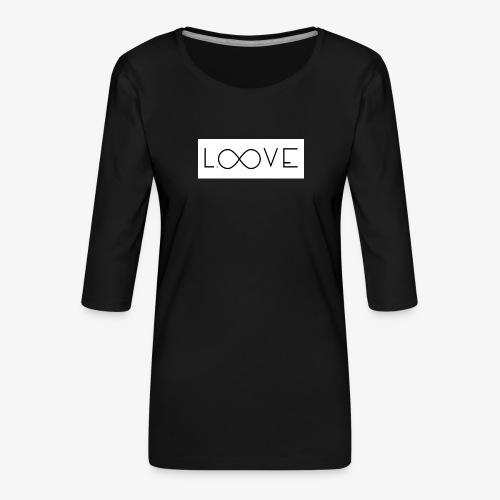 LOOVE Box Logo (SS18) - Maglietta da donna premium con manica a 3/4
