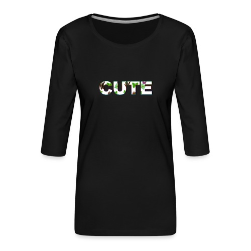 SÖT - Premium-T-shirt med 3/4-ärm dam