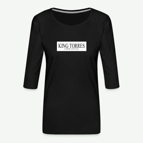 king torres - Camiseta premium de manga 3/4 para mujer