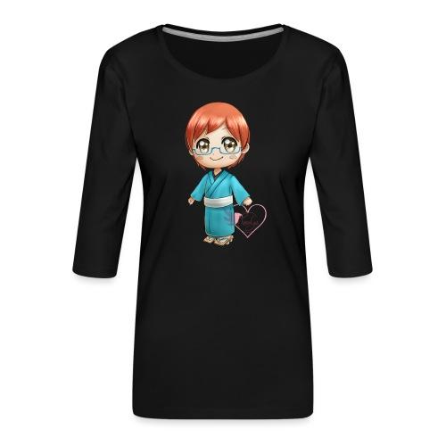 Morgan crossing - T-shirt Premium manches 3/4 Femme