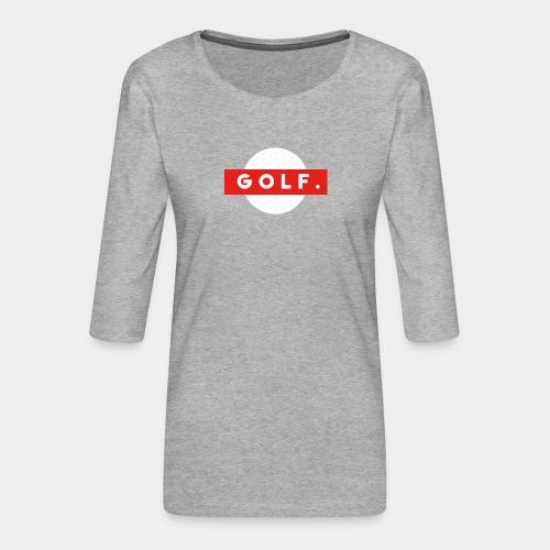 GOLF. - T-shirt Premium manches 3/4 Femme