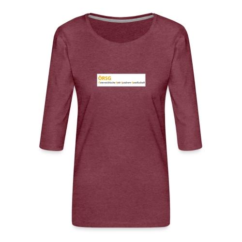 Text-Logo der ÖRSG - Rett Syndrom Österreich - Frauen Premium 3/4-Arm Shirt