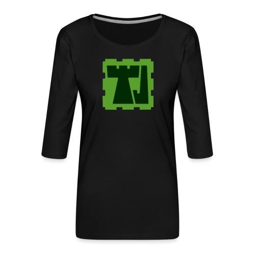 Tänään Jäljellä -logo - Naisten premium 3/4-hihainen paita
