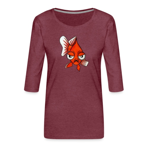 Angry Fish - T-shirt Premium manches 3/4 Femme