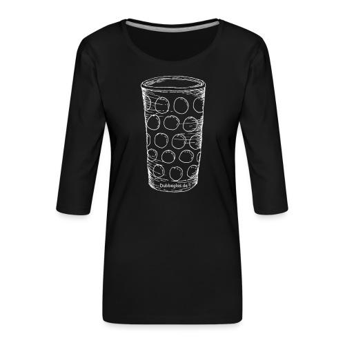 Dubbeglas un kä Blumevase - Frauen Premium 3/4-Arm Shirt