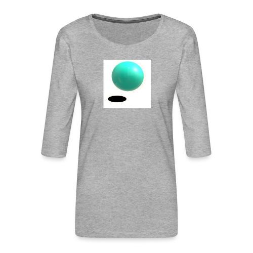 sing - Camiseta premium de manga 3/4 para mujer