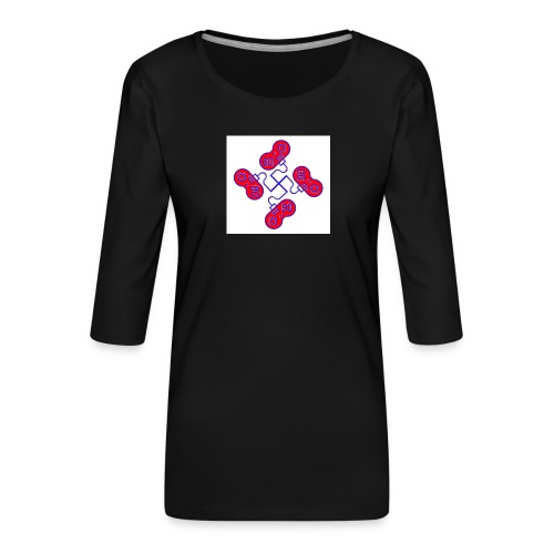 unkeon dunkeon - Naisten premium 3/4-hihainen paita