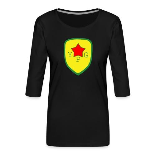 Mens Green YPG Support Tee - Naisten premium 3/4-hihainen paita