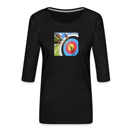 13544ACC 89C4 4278 B696 55956300753D - Premium T-skjorte med 3/4 erme for kvinner