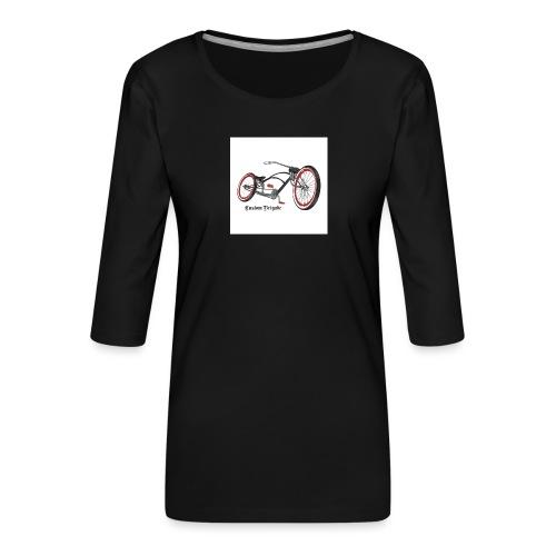 badge007 - T-shirt Premium manches 3/4 Femme