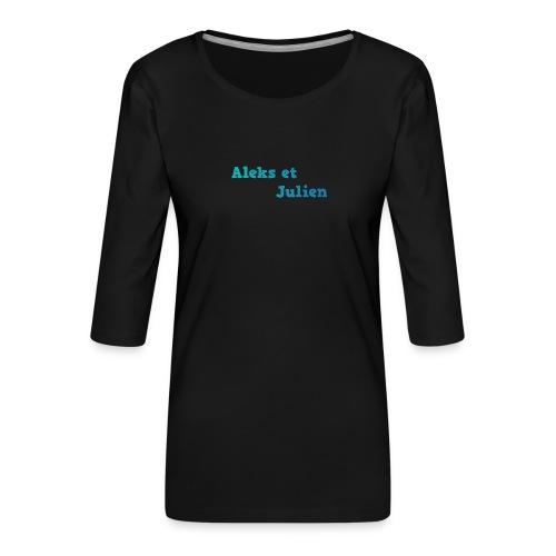 Notre logo - T-shirt Premium manches 3/4 Femme