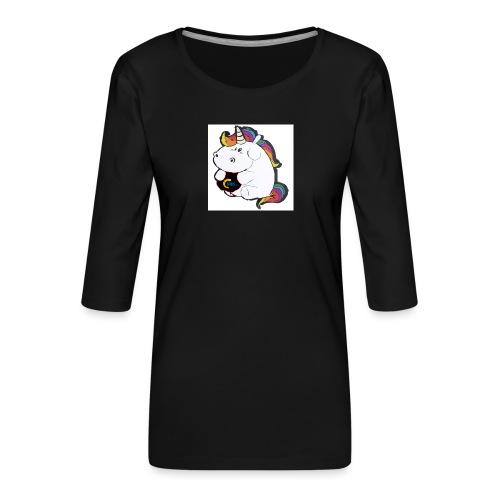 MIK Einhorn - Frauen Premium 3/4-Arm Shirt