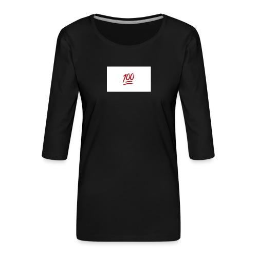 100_emoji - Vrouwen premium shirt 3/4-mouw