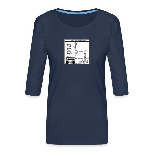 W.O.T War tactic, tank shot - Women's Premium 3/4-Sleeve T-Shirt