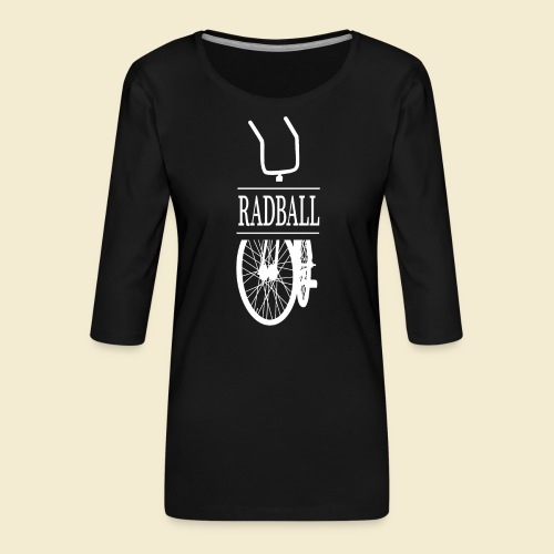 Radball | Retro White - Frauen Premium 3/4-Arm Shirt