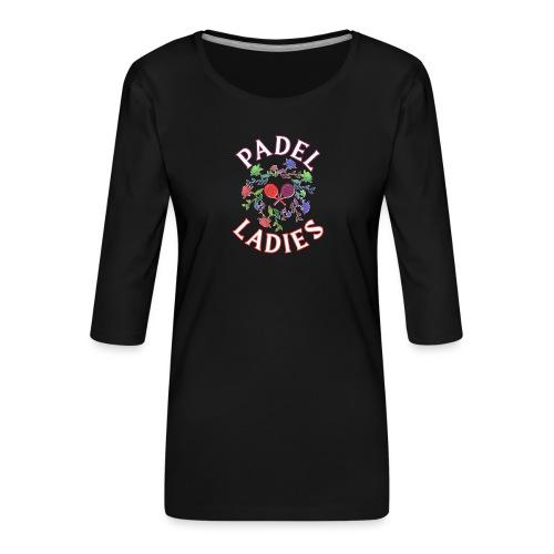 Padel tennis tjejerna - Premium-T-shirt med 3/4-ärm dam