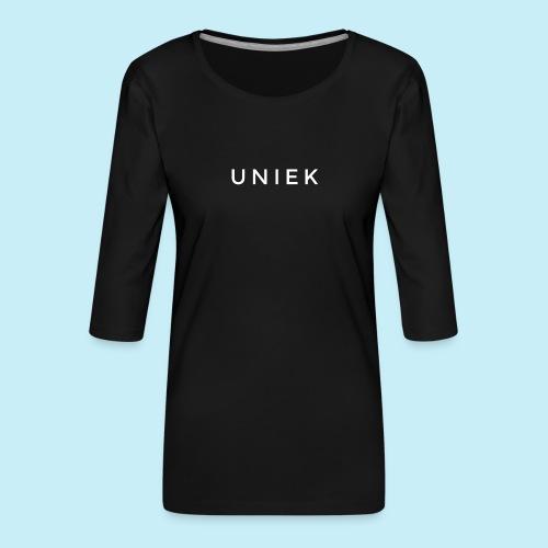 Uniek - T-shirt Premium manches 3/4 Femme