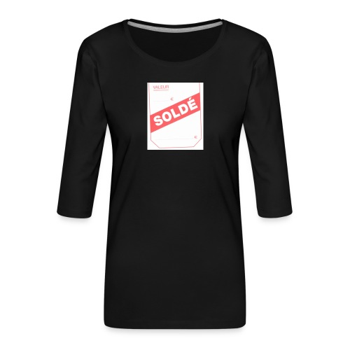 soldé - T-shirt Premium manches 3/4 Femme